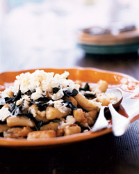 Green Olive Gnocchi with Green Olive Sauce Recipe