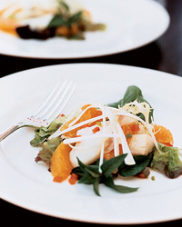 Warm Cured-Cod Salad with Orange and Basil Recipe