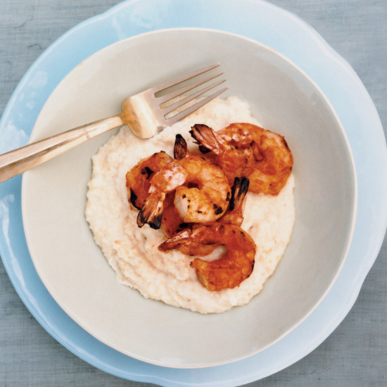 Barbecued Shrimp with Cheese Grits