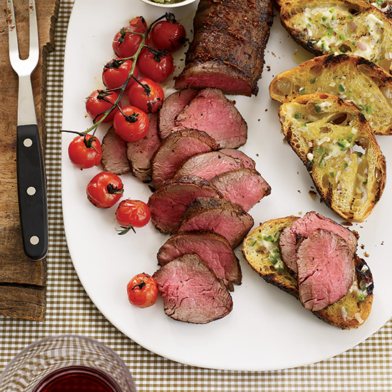 Grilled Beef Tenderloin with Ancho–Jalapeño Butter