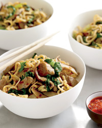 Asian Pork, Mushroom and Noodle Stir-Fry Recipe