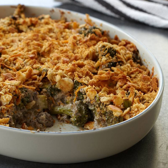 Broccoli and Wild Mushroom Casserole