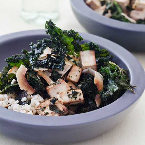 Crispy Kale-and-Tofu Salad with Coconut