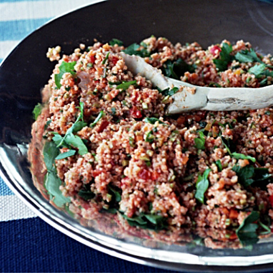 Bulgur Salad with Lightly Roasted Vegetables