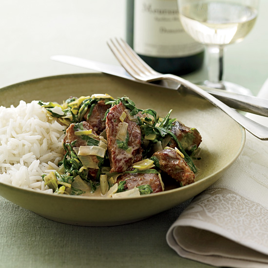 Veal Stew with Spring Greens