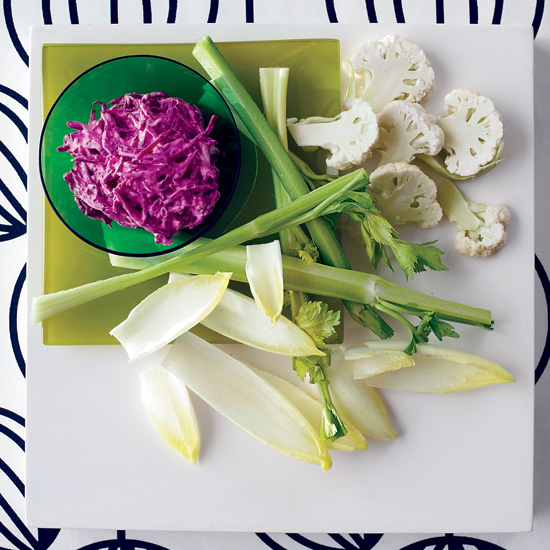 Creamy Beet Dip with White Crudit&amp;#233;s