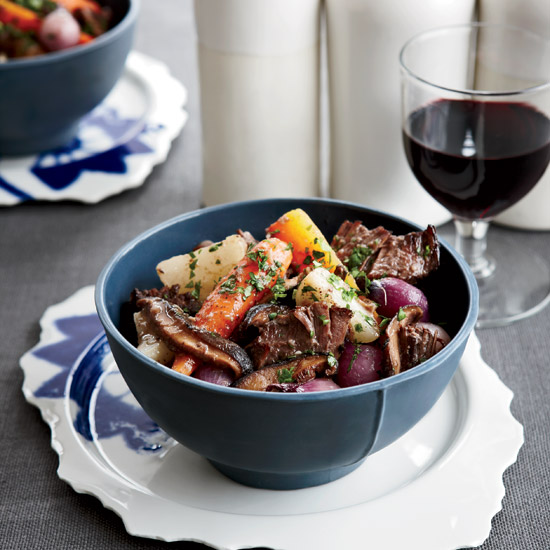 Short Ribs with Mushrooms and Vegetables