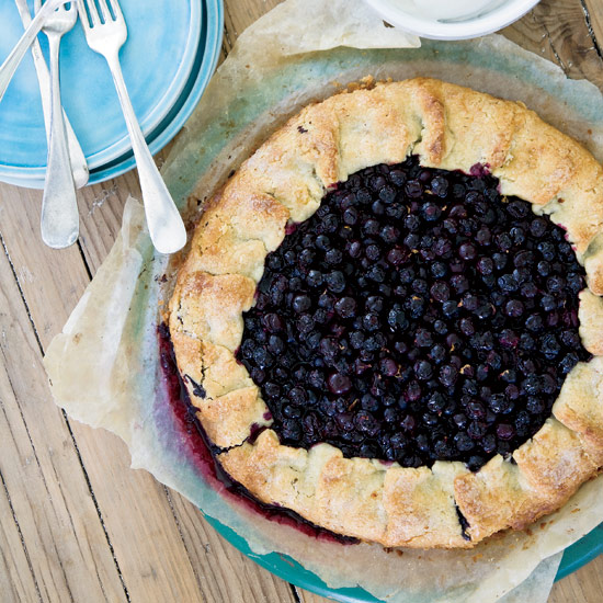 Free-Form Blueberry Tart