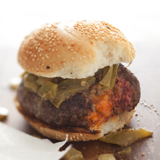 Pimento Cheese-Stuffed Burgers