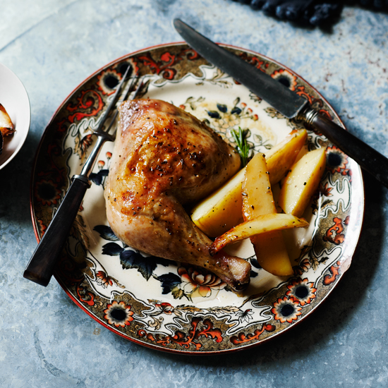 Roast Chicken  with Rosemary and Lemon