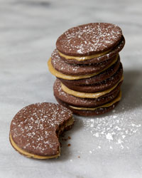 Butterscotch Chocolate Sandwich Cookies Recipe