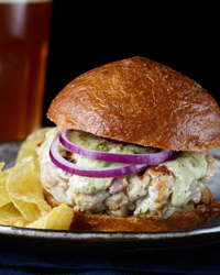 Smoky Tuna and Bacon Burgers with Lemongrass Aioli Recipe
