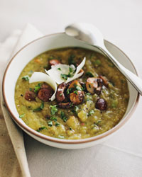 Split Pea Soup with Portobellos