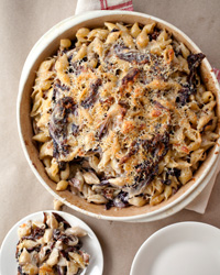 Three-Cheese Baked Pasta with Porcini and Radicchio