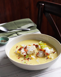 Chowder soup recipes like Corn-and-Cod Chowder