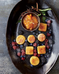 Fried Semolina Dumplings with Apricots and Apricot Preserves Recipe
