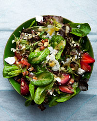 Baby Lettuces with Feta, Strawberries and Almonds Recipe