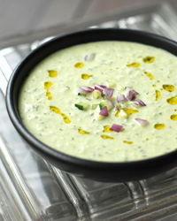 Cold Cucumber Soup with Yogurt and Dill