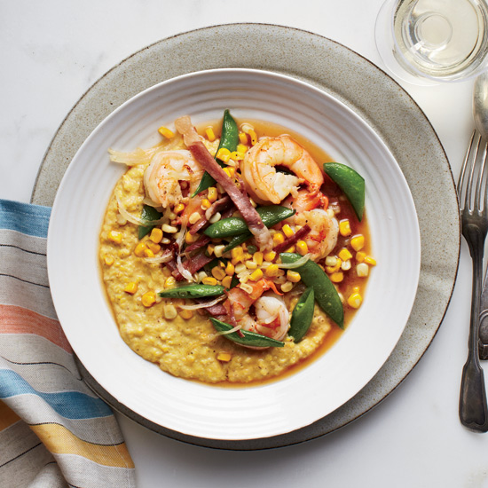 Fresh Corn Grits with Shrimp Recipe