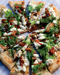 Grilled Flatbreads with Mushrooms, Ricotta and Herbs Recipe Recipe