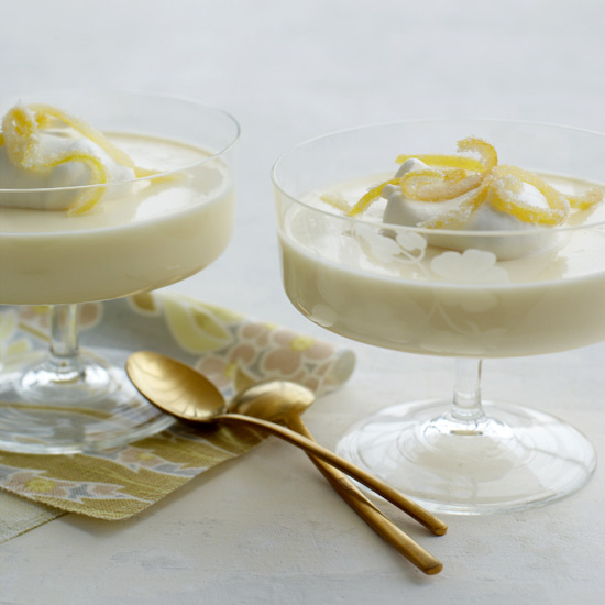 Lemon Puddings with Candied Lemon Zest