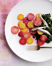 Lemony Beet and Beet Green Salad Recipe