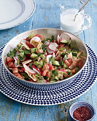 Pita-and-Chopped Vegetable Salad Recipe