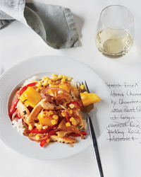 Tricky Wine Pairings: Chicken Stir-Fry with Corn, Pineapple and Red Pepper