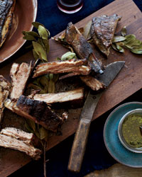 Grilled Lamb Ribs with Chimichurri Recipe
