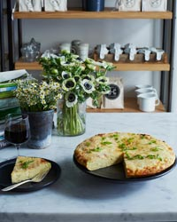 Potato-Scallion Frittata with Manchego Cheese Recipe