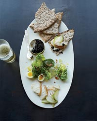 Smoked Sturgeon with Caviar and Everything Bagel Crumbs Recipe