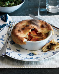 Individual Mushroom Potpies with Parker House Crust