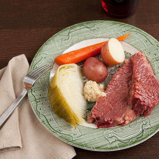 Slow Cooker Corned Beef with Cabbage, Carrots and Potatoes