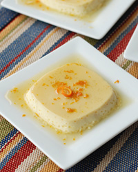 Flan with Caramel and Orange