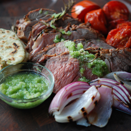 Grilled Leg of Lamb, Mexican-Style