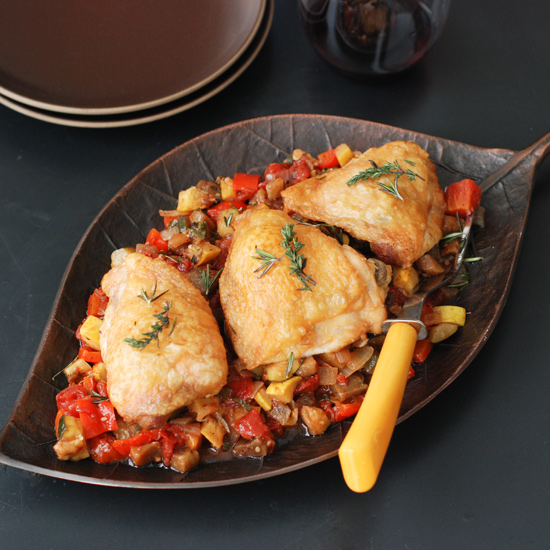 Roast Chicken and Ratatouille