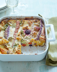 Roasted-Vegetable Clafoutis Recipe
