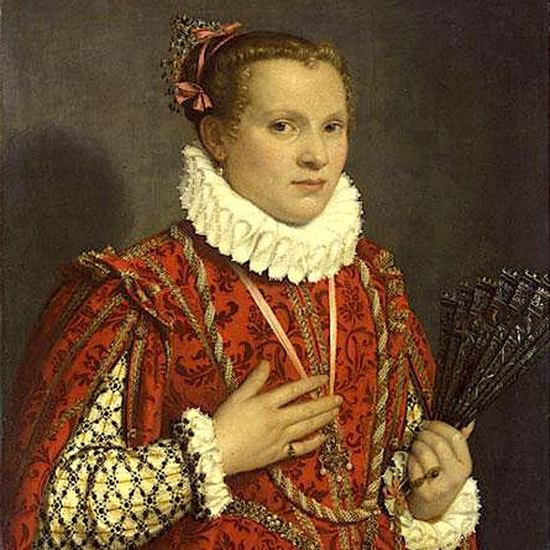 Portrait of a Woman with a Fan