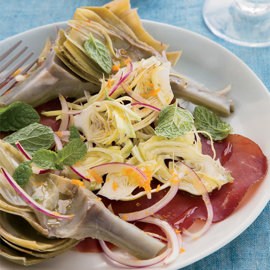 Artichokes Two Ways, with Bresaola