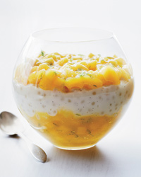 Coconut Tapioca Pudding with Mango and Lime Recipe