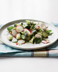 Cucumber-and-Radish Salad with Burrata Recipe
