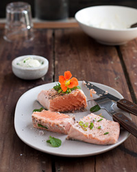 Poached Salmon with Herbed Mayonnaise