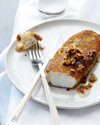Sea Bass Fillets with Lemon-Hazelnut Brown Butter Recipe