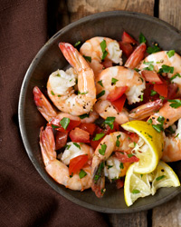 Shrimp Marinated in Lemon and Olive Oil