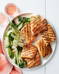 Honey-Mustard-Glazed Salmon Steaks Recipe