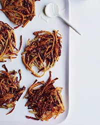 Beet-and-Potato Latkes with Thyme