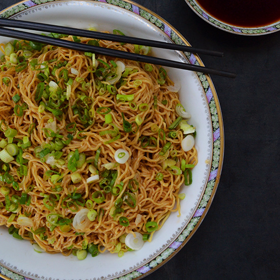 Sweet, Aromatic Soy Sauce Over Noodles