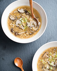 Red Lentil, Miso and Shiitake Mushroom Soup