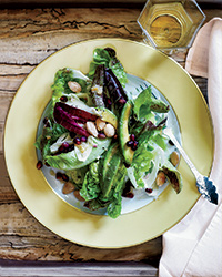 Winter Salad with Avocado, Pomegranate and Almonds