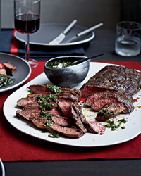 Flat Iron Steaks with Blue Cheese Butter